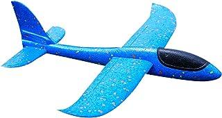 rongweiwang Stor 48 cm EVA barn hand kasta lysande ljus flygplan glider 48 cm svävande cirkulerande flygplan modell barn l...