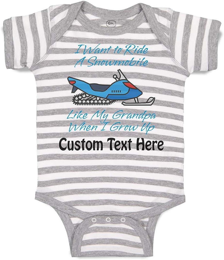 Custom Baby Bodysuit I Want to Ride A Snowmobile Like My Grandpa When Grow up