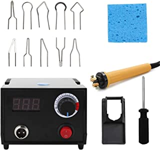 GoolRC Wood Burner Pyrography Pen Burning Machine Gourd Crafts Tool Set With Welding Wire Top Adjustable Temperature