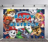 Paw Patrol Boy Birthday Party Banner Background Baby Shower Princess Backdrops Kids Girls Cake Table Decoration Banner Photo Studio Props