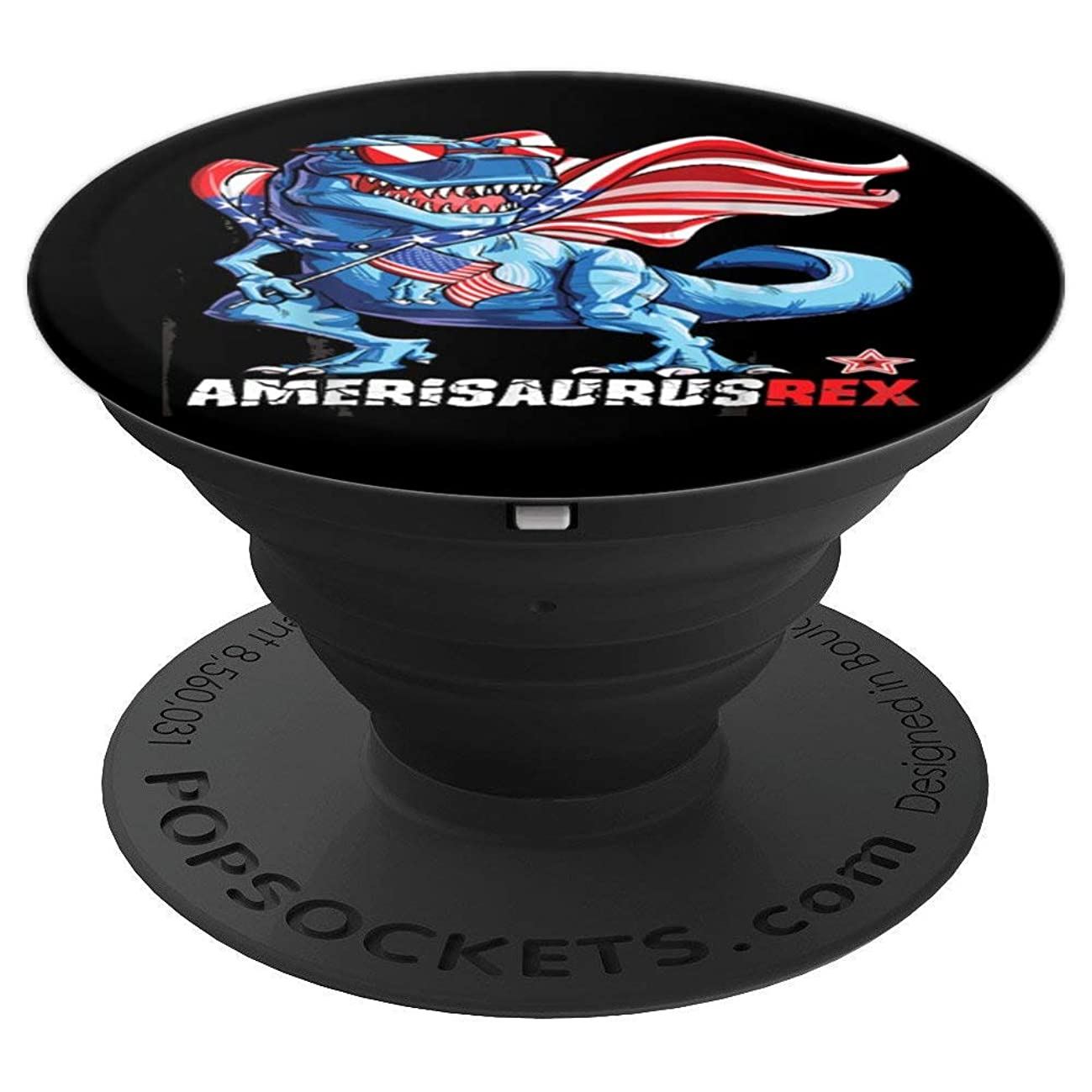 Dinosaur 4th of July T shirt Kids Boys Men Amerisaurus T Rex - PopSockets Grip and Stand for Phones and Tablets