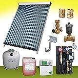 Komplettpaket 6,10 m² Solaranlage Vakuumröhrenkollektor Standard