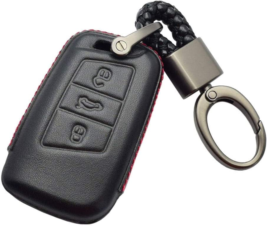 Smart Remote Fob Cover Keychain Bag Boston Mall Accessories overseas Key Leather Car