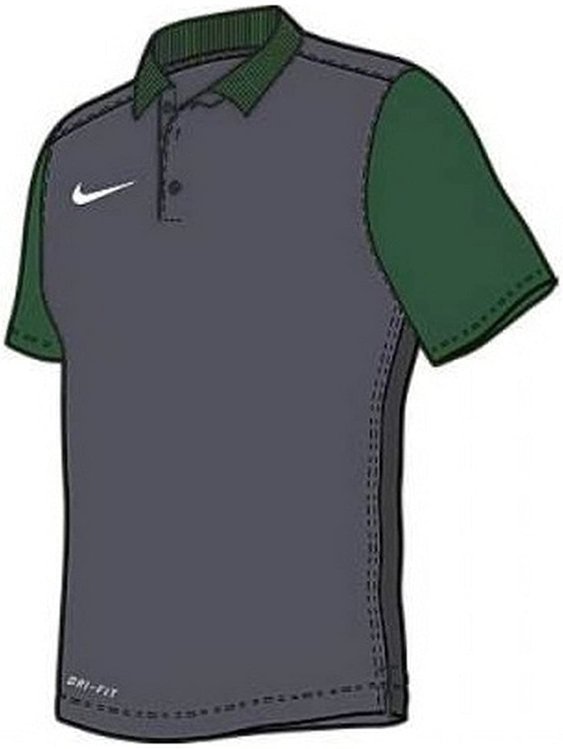 Nike Men's Pre-Season Polo Shirt 747988 361 Green Dark Grey Size XL