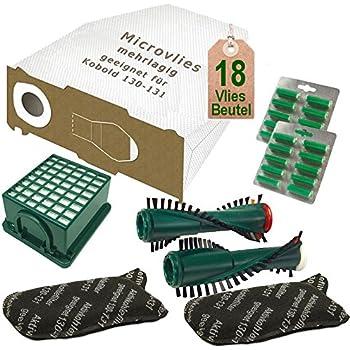 Bürsten Filter Tüten geeignet für  Vorwerk Kobold 130 131
