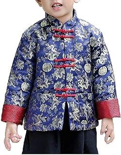 Traje Chino Ho Yi Tang Ropa para niños Chaqueta roja Tradicional Traje CNY Continuar Parte Superior Abrigo Hanfu para niños