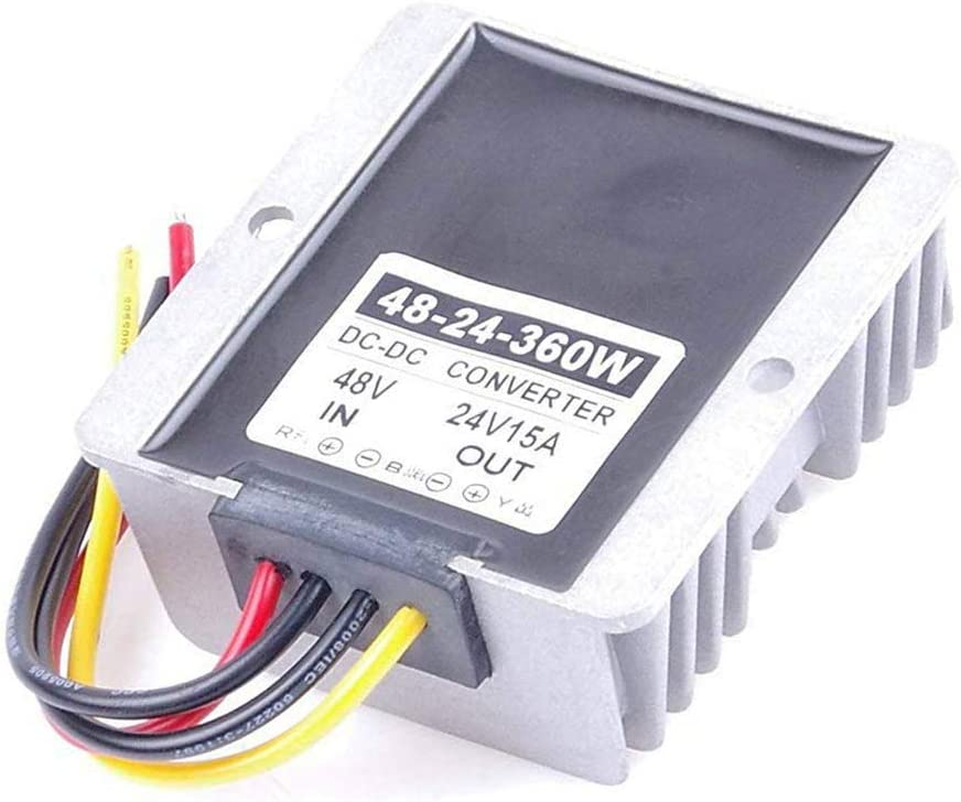 Stayhome 1PCS 48V to 24V 15A 240W DC Converter 48VDC to 24VDC 15 AMP Step Down DC-DC Power Converter 48 Volt to 24 Volt DIY Buck Voltage