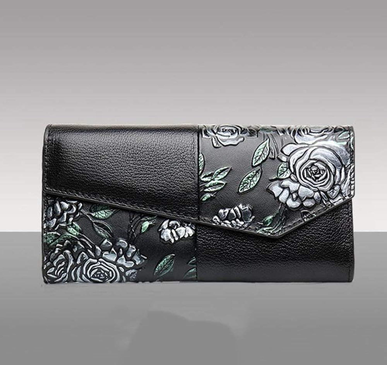 Girls Purse Women's Wallet,Lady's Wallet PU Leather Cowhide Large Wallet