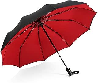 DORRISO Men Women Automatic Open/Close Folding Umbrella Extra Strong Windproof Portable Compact Travel Business Sun Umbrella Rain Umbrella