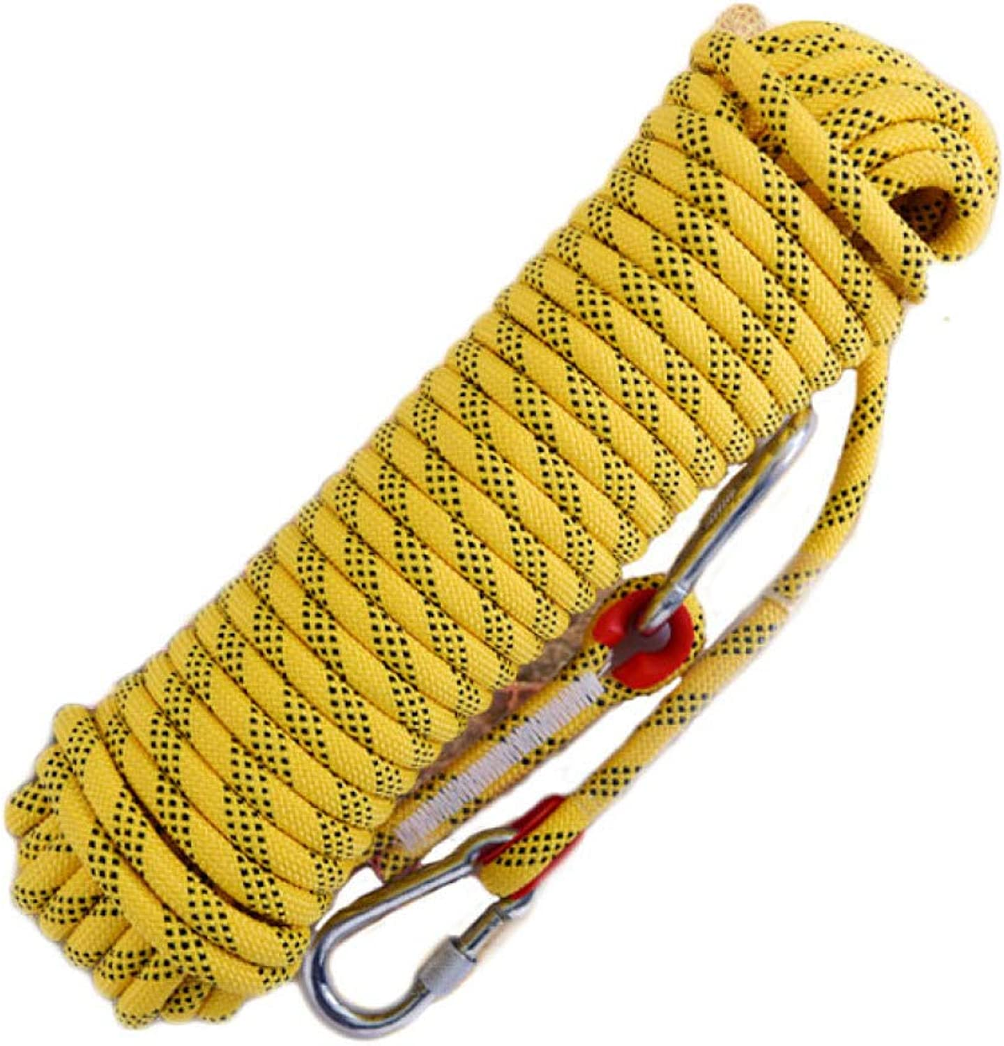 12 14 16MM Outdoor Mountaineering Camping Adventure Safety Rescue AntiSkid Rope,Yellow10m14mm