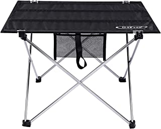 G4Free Ultralight Folding Camping Table Portable Compact Roll Up Camp Tables with Carrying Bag for Outdoor Camping Hiking Picnic