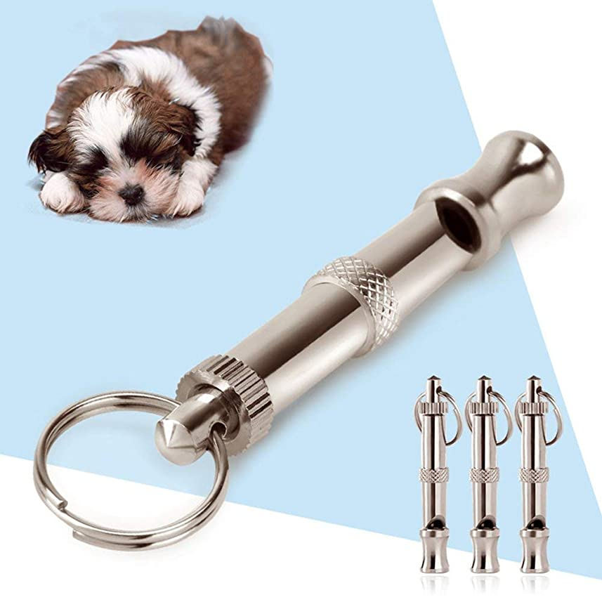 歴史家消毒する黒板ペット調節可能なピッチ犬の笛、犬の訓練の笛UltraSonic音超音波 3個