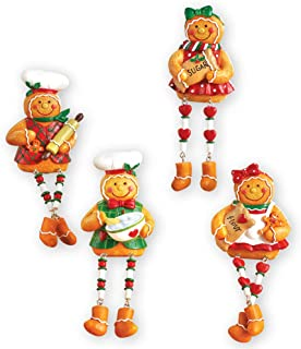 Collections Etc Christmas Gingerbread Sitters -Set of 4