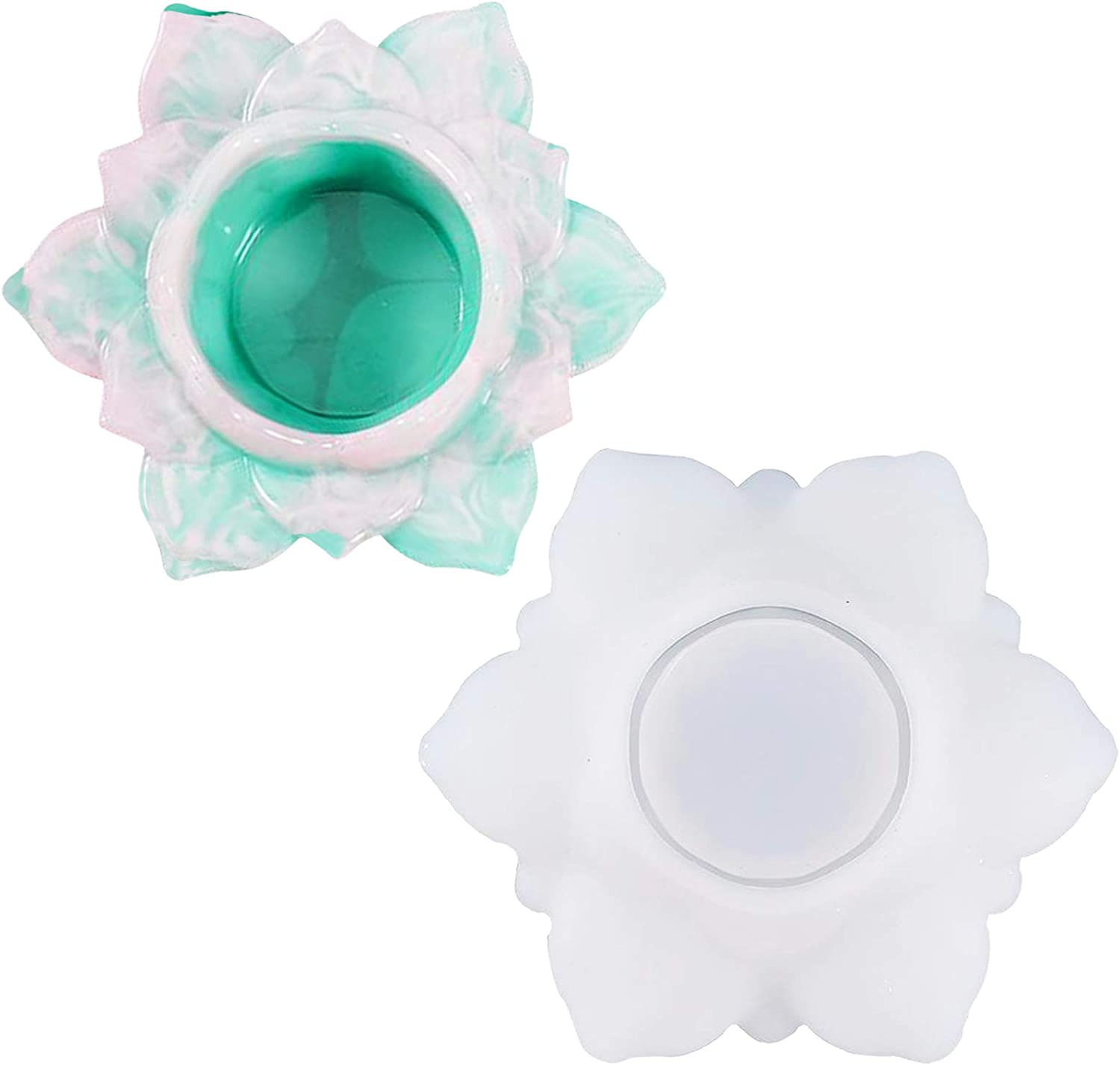 Shanglist Candle Holder Resin Clearance SALE! Limited time! Max 75% OFF Molds Candlestick Lotus Tealight