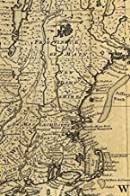 A new and accurate map of NJ, PA, NY and New England, with the adjacent countries: A Poetose Notebook / Journal / Diary - LINED PAGES (100 pages/50 sheets) (Poetose Notebooks)