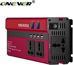 ONEVER 5000W de Potencia del inversor Solar del Coche LED DC 12V a 220V CA de Onda sinusoidal Converter con 4 interfaces USB Rojo