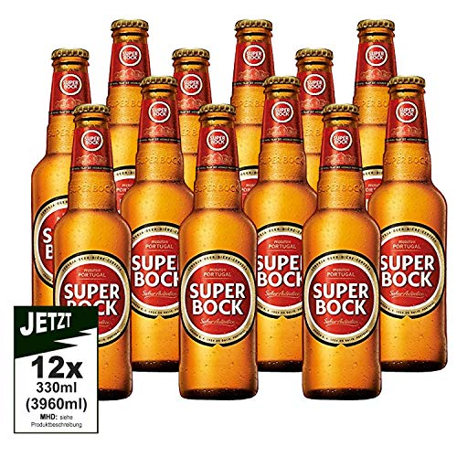 Super Bock Cerveja 5.2% Vol. 12er Pack 3960ml - Kult Bier aus Portugal, Lager, Pils