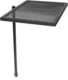 Sunnydaze Adjustable Swivel Fire Pit Cooking Grill Grate - Outdoor Backyard Heavy-Duty Steel Campfire Barbecue Rack - 360-Degree Rotating Ability - 24-Inch