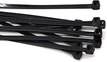 "SYD Industrial Multi-Purpose Cable Ties (100 Piece) Black Self Locking Nylon Zip Ties (8"", Black)"