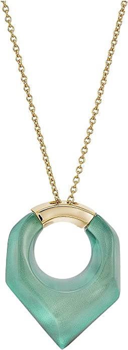 Alexis Bittar Faceted Pentagon Pendant Necklace