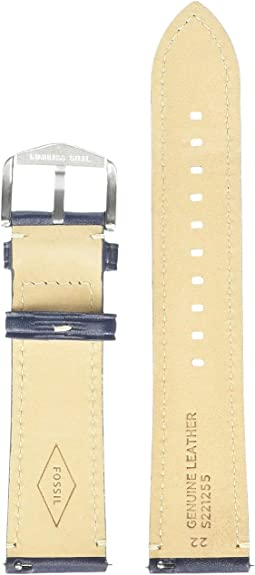 S221255 Silver Navy Blue Leather
