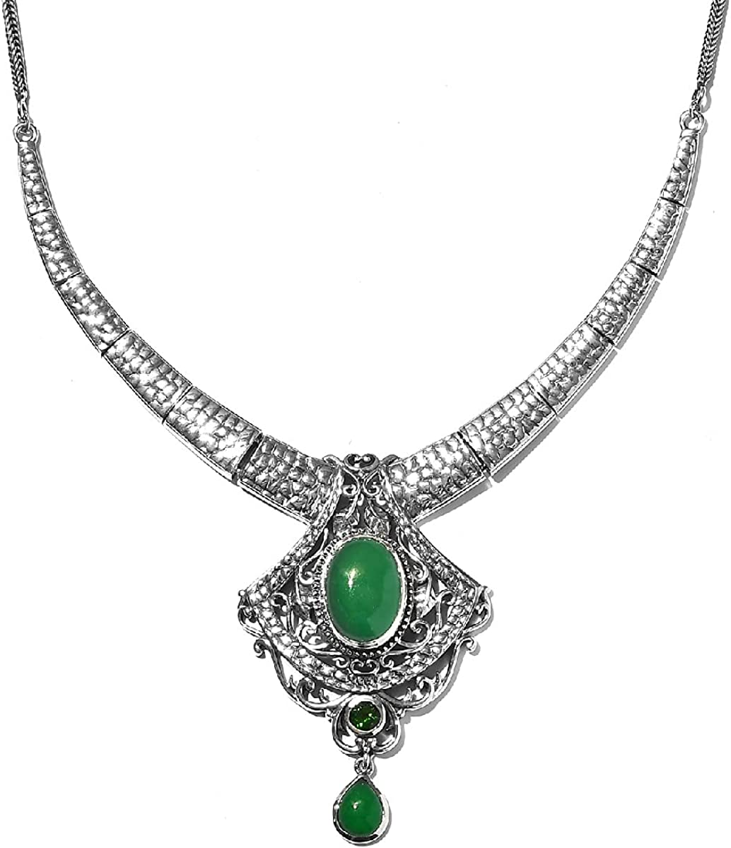 Shop LC 925 OFFicial store Sterling Silver Green Max 57% OFF Chrome Jade Healing Genuine Di
