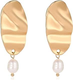 Module New Gold Color Japan Korean Irregular Natural Freshwater Pearl Drop Earrings For Women