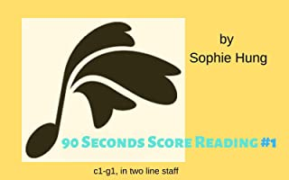 90 Seconds Score Reading #1: c1-g1, in two line staff