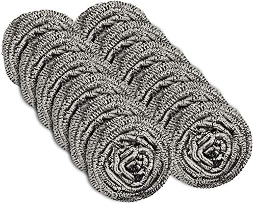 12 Pack Stainless Steel Scourers by Scrub It –...