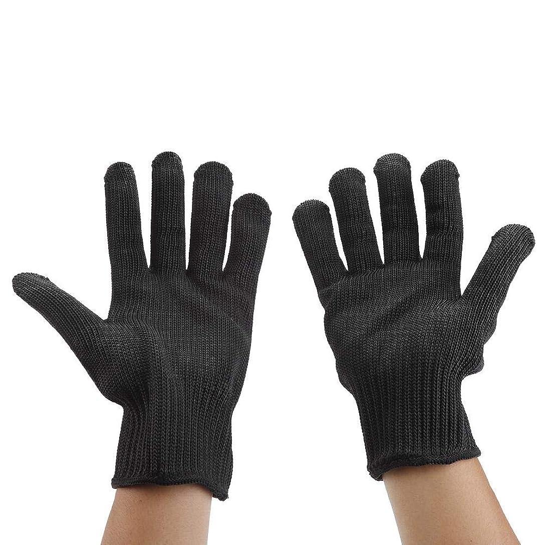 高さ我慢する路面電車カット耐性手袋、食品等級レベル5保護、台所用安全性カット手袋、マンドリンスライス、魚切り身、オイスターシャック、肉切りと木彫り(1ペア)(#3)