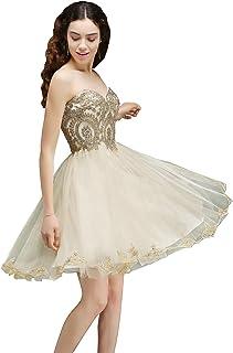 c67f96f3b7a MisShow Women s Lace Applique Strapless Short Mini Cocktail Homecoming  Dresses