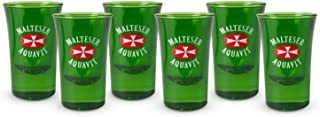 6 Stück original Malteserkreuz Aquavit Shotglas Shotgläser 2cl Gläser