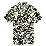 Hecho en Hawaii Camisa Hawaiana de los Hombres Camisa Hawaiana 4XLHoja de Bambú Allover en...