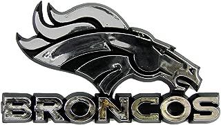 Football Fanatics NFL Denver Broncos Auto Emblem -,Silver
