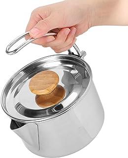 Alvinlite Bouilloire à thé en Acier Inoxydable pour théière à café Pliante pour l'utilisation de Barbecue de Pique-Nique e...
