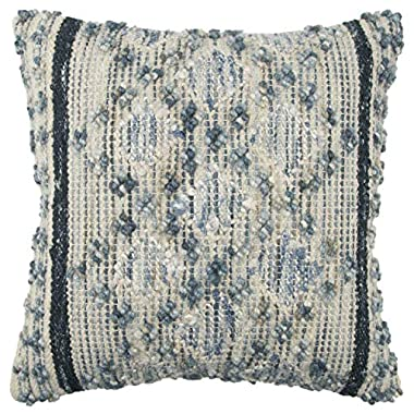 Rizzy Home T13835 Decorative Pillow, 20  x 20 , Blue/Gray