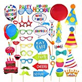 Birthday Photo Booth Props,Fully Assembled, No DIY Required Posing Props for Birthday Party