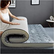 Tatami Mattress, Student Dormitory Single/Double Mattress, Floor mat,Soft and Comfortable, Universal for All Seasons,Gray,...