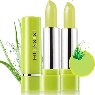 Aloe Vera Juice Carotene Lipstick, Moisturizer Temperature Color Change Lip Gloss Long Lasting Nutritious Lip Balm Lips Waterproof Moisturizing Non-stick Cup (green(Aloe juice))