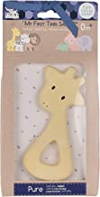 Tikiri Toys Giraffe Natural Rubber Teether, Handmade & Organic, for Kids 0+ & Above
