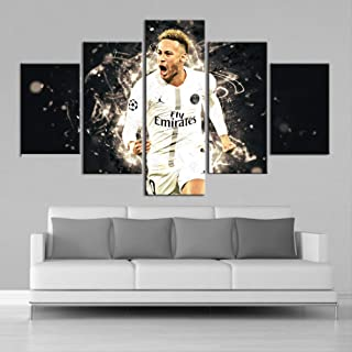ARTZHUA Wall Art 5 Pieces Canvas Paintings American Football 5 Pieces Creative HD Posters Football Players Posters Wall Art Canvas Paintings Sports Prints Pictures Boys Room Decor