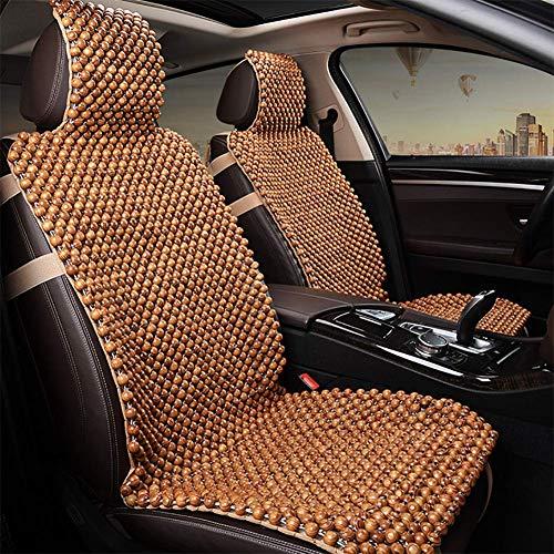 RUIX Holzperlen Sitzauflage Autositzbezug, Einzelsitz/Sommerautositz atmungsaktiv Massagepad Universal für Autositz oder Bürostuhl,StandardEdition