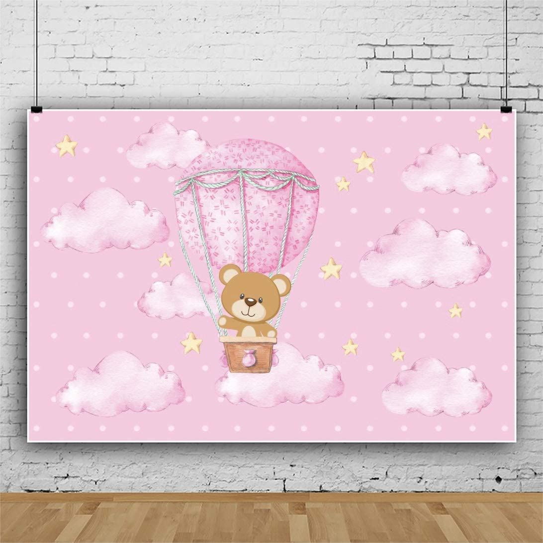 Yeele 20x20ft Pink Cute Bear Air Hot Balloon Jacksonville Mall ...