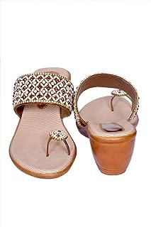 J.G.Shoes JG05 Bridal Footwear Sandles with Heels for Women/Girls (Silver)