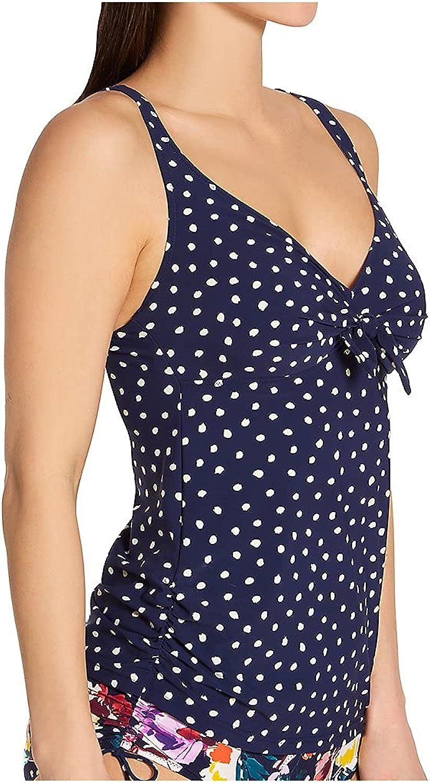 Anita Women's Blue Dots Alina Tankini Swim Top 8870-1 36C Dark Blue
