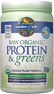 Garden of Life Raw Protein & greens Vanilla, Vegan Protein Powder for Women and Men, Juiced Greens and 20g Raw Organic Pla...