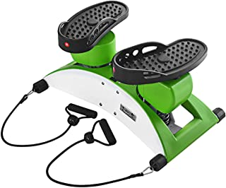 GXOK Air Stepper with Fitness Bands Climber Exercise Fitness Thigh Machine Multi-Function Dance Machine [Ship from USA Directly]