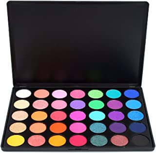 MISKOS 35 Colors Eyeshadow Palette Silky Pigmented Powder Professional Make up Waterproof Pallete Product Cosmetics Makeup Eye Shadow 35E
