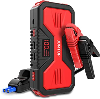 JUMTOP QDSP 1200A Peak 12000mAh Portable Car Jump Starter (7.0L Gas and 5.0L Diesel Engine) Auto Battery Booster Power Bank Phone Charger with Dual USB Smart Charging Port and LED Flashlight