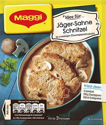 Maggi fix & frisch, Jäger-Sahne Schnitzel, 15 Beutel (15 X 27 g)
